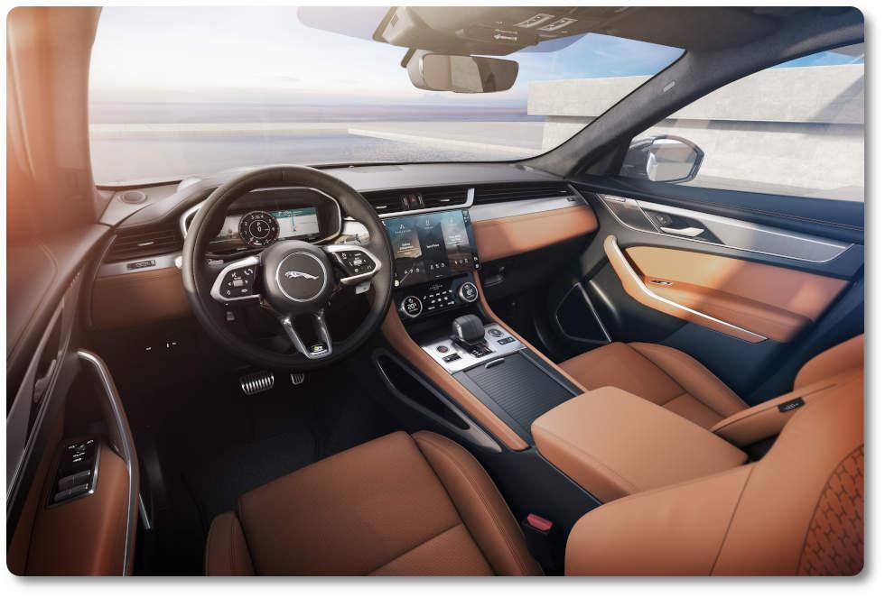 imagen jaguar f-pace 2021 interior
