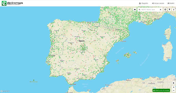 imagen mapa puntos recarga